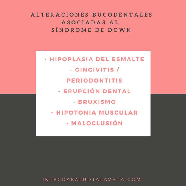 Atención salud bucodental personas con síndrome de Down