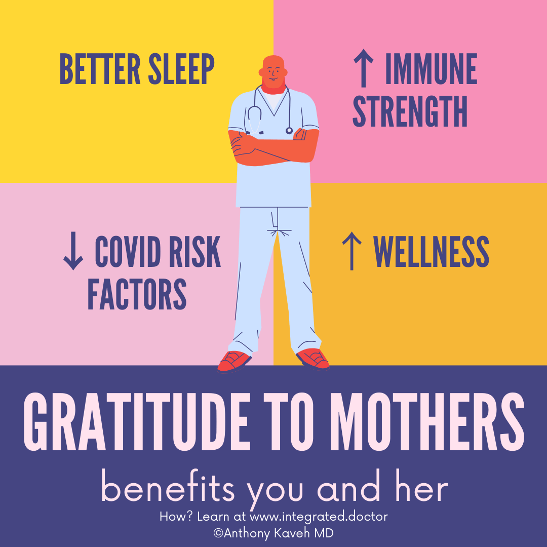 Gratitude influences our immune system. As amazing as that sounds, a mindset with gratitude can have profound influences on our happiness and wellbeing. It can also promote other healthy habits that can reduce our risk of severe disease from COVID-19.