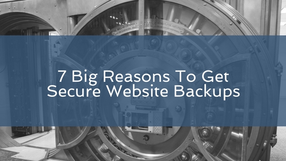 important reasons to use website backups