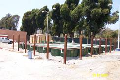 Orenco Advantex Treatment Pods prior to fence installation