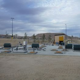 Completed wastewater plant site