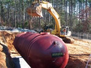 Installation of 30,000 gallon septic tank