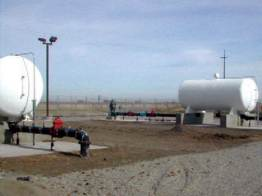 5,000 gallon wastewater storage and distribution tanks