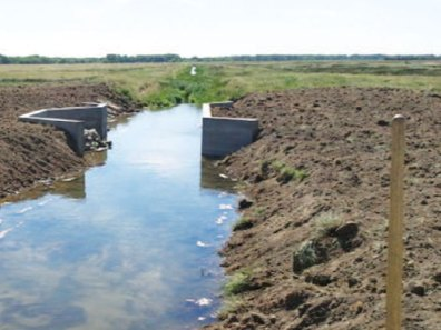IWS Water Structure feeding the wetlands