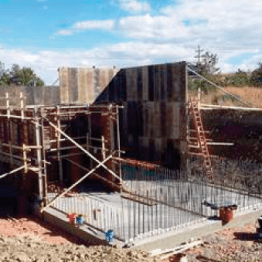 Forming Concrete Tank
