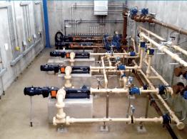Process Piping Adjacent to Treatment Basin