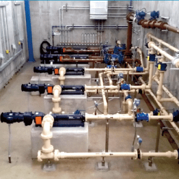Process Piping Adjacent to Treatment Basin