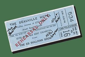 ticket the ed sullivan show miami 1964 integrate news