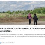 «Cherche compost et bénévoles», par la Gazette des Yvelines.