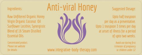 anti viral honey label