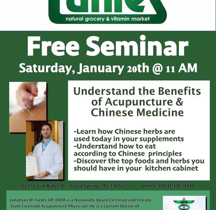 Parkland Acupuncture Chinese Medicine Seminar at Tunies