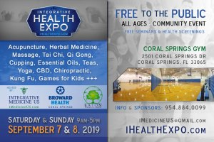 Integrative Health Expo Coral Springs Florida Sept 7-8 2019