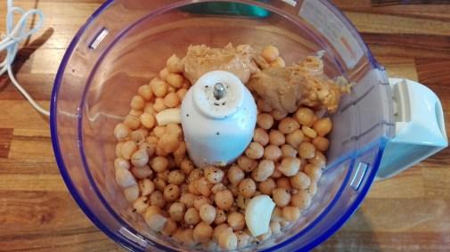 PB Hummus in blender