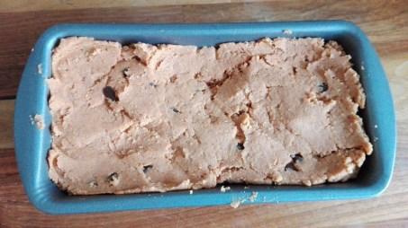 Choc Pumpkin loaf in tin