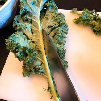 Kale wrap Prep