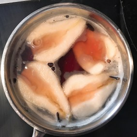 Pears in Poaching Liquid