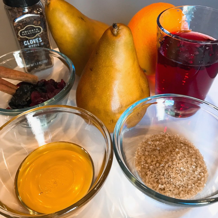 Poached Pear Ingredients
