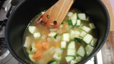Hearty Chicken Soup cooking