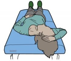 stretch - scalene, middle - supine
