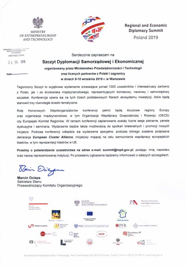 Szczyt Dyplomacji Samorządowej i Ekonomicznej