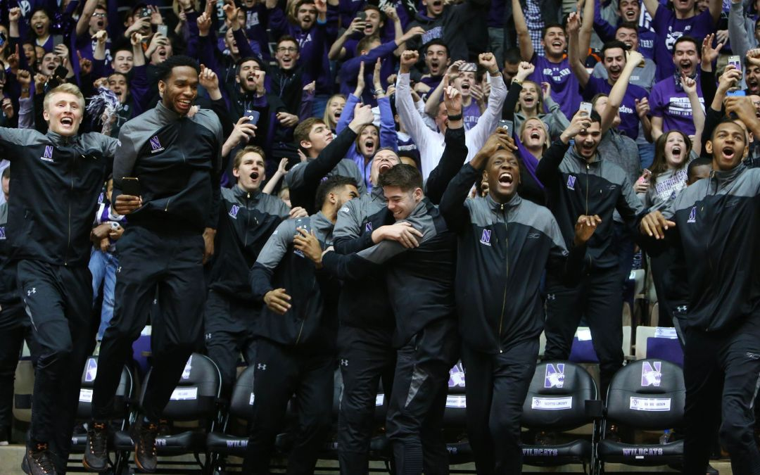 Northwestern doesn't hold back in celebrating first tournament bid
