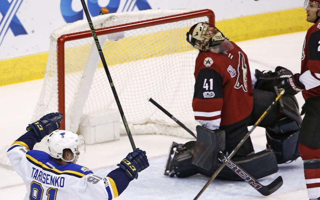 St. Louis Blues shut out short-handed Arizona Coyotes