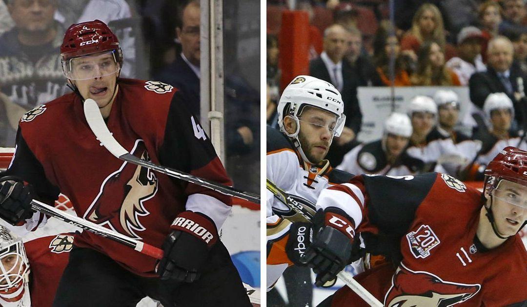 Arizona Coyotes recall Zbynek Michalek, Laurent Dauphin before road trip