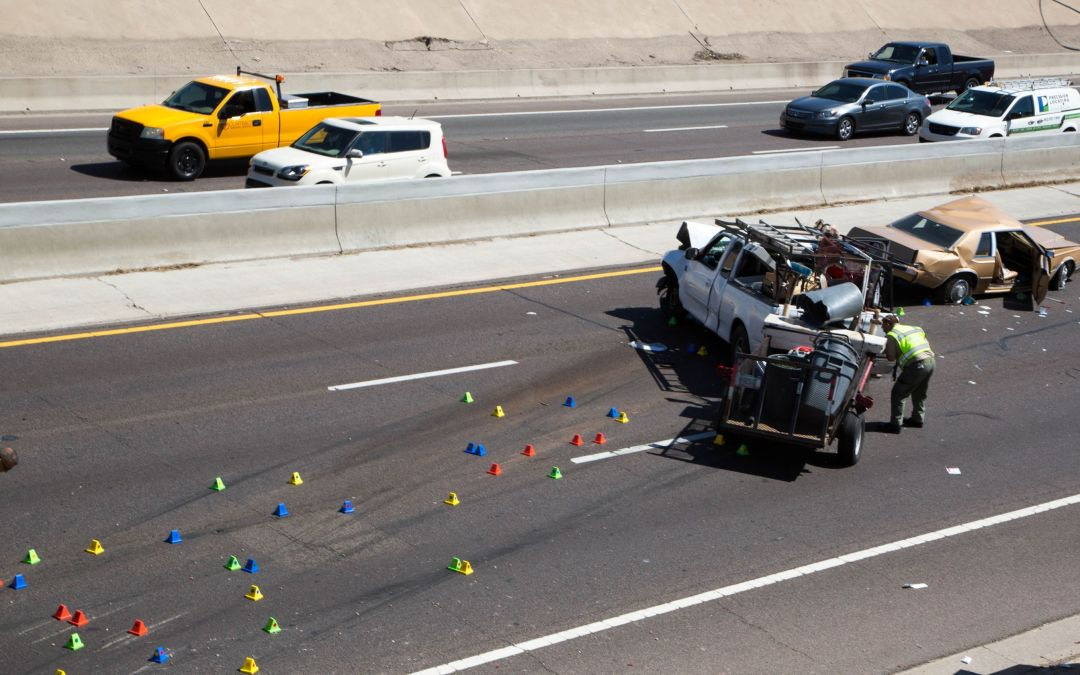 1 killed, 3 injured after car plunges onto Interstate 17 near downtown Phoenix