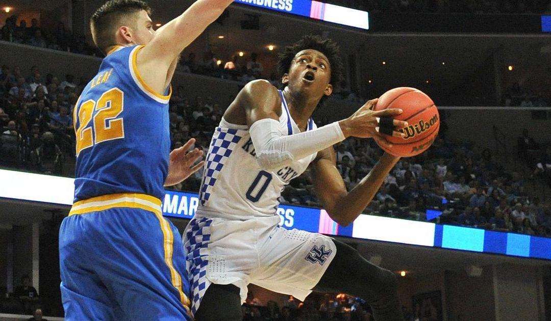 No way De'Aaron Fox wasn't going to let Kentucky lose to UCLA