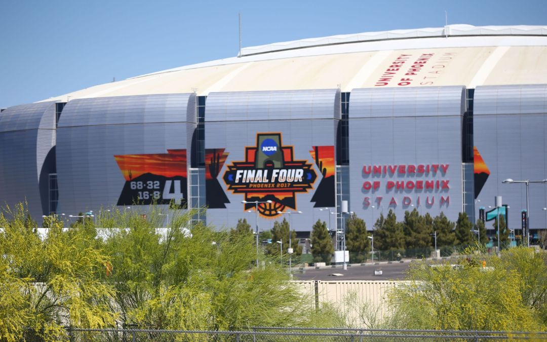 Final four in Phoenix; Racist graffiti removed; Trump goes after conservative group