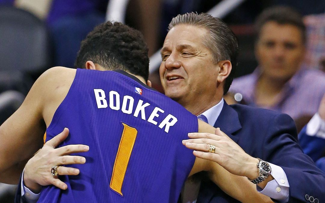 Kentucky's John Calipari visits former players with Suns