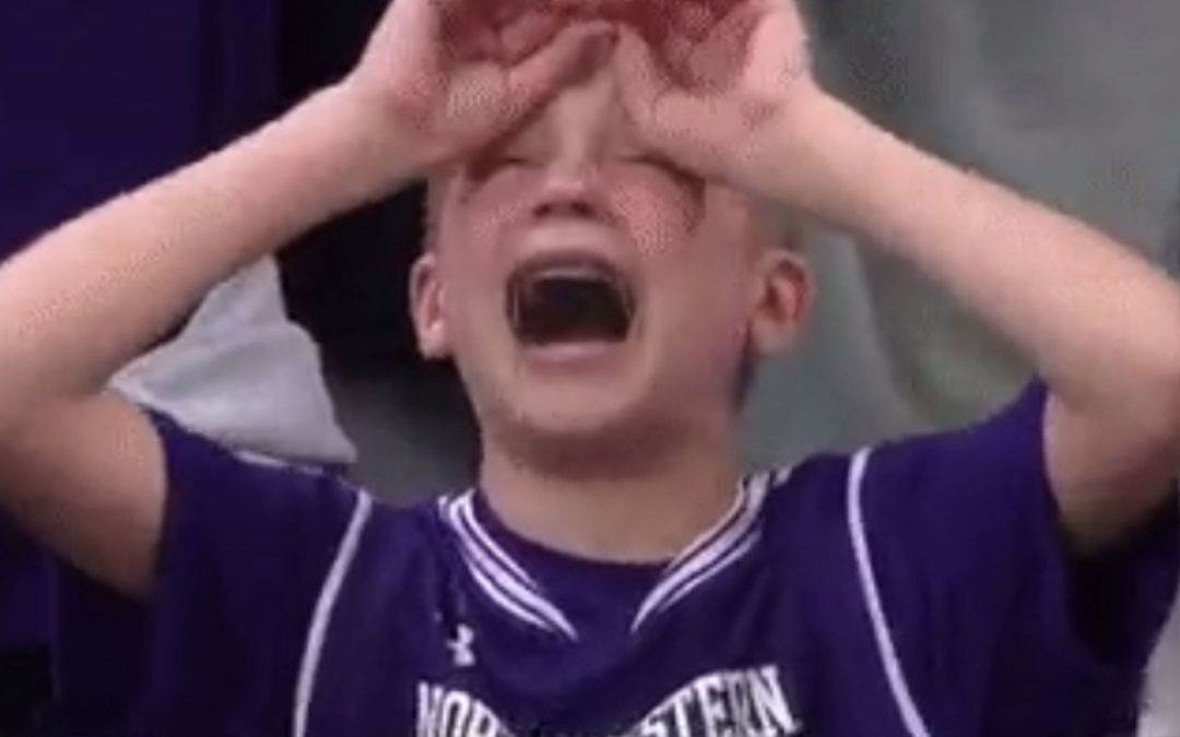 Crying Northwestern kid becomes a March Madness hero