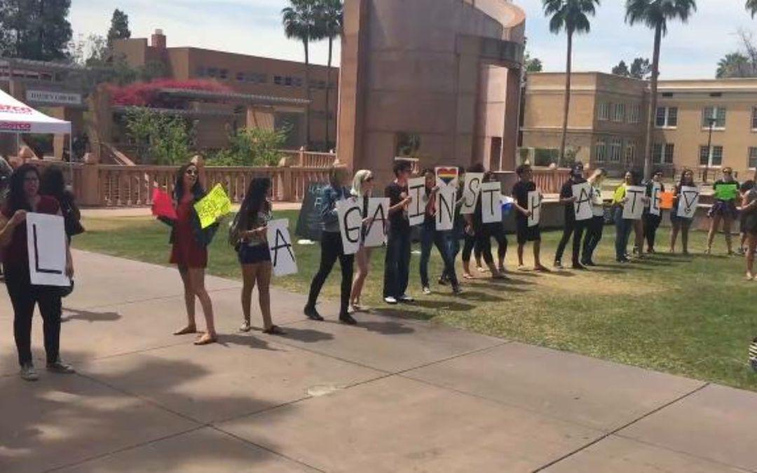 ASU border-wall protest