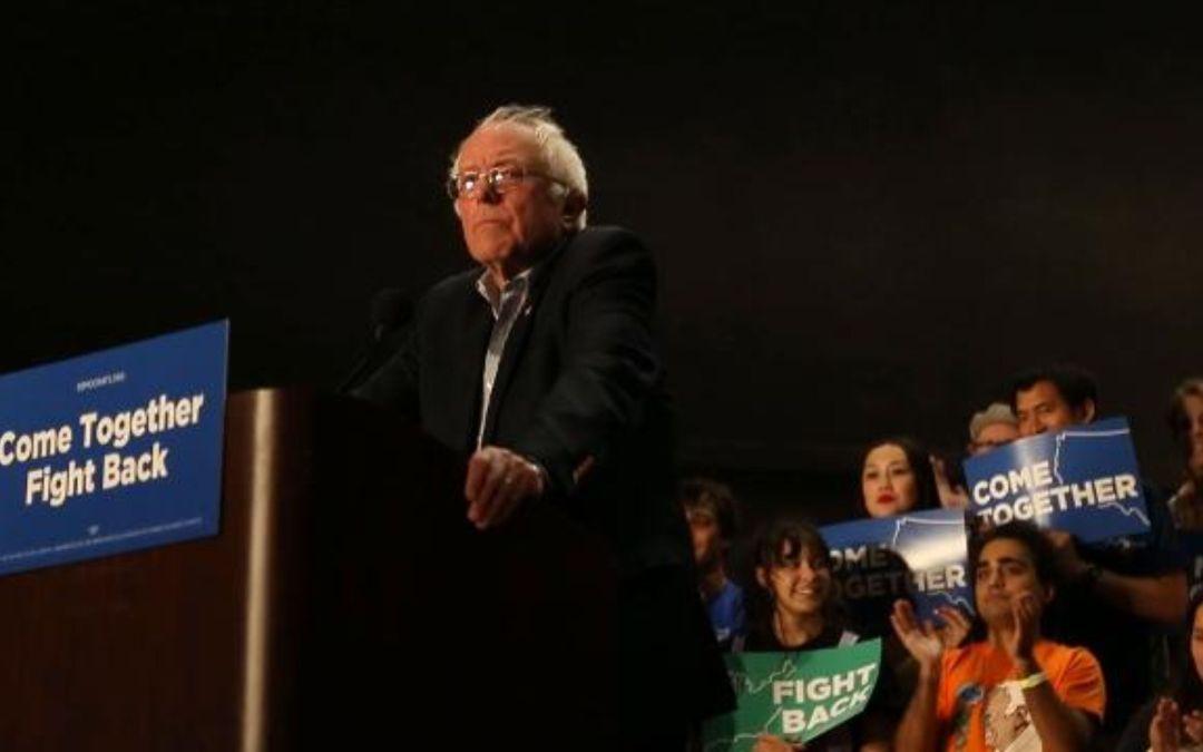 Sen. Bernie Sanders takes stage in Mesa