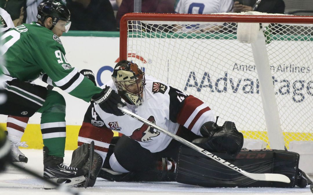 Short-handed Coyotes fall to Dallas Stars in overtime