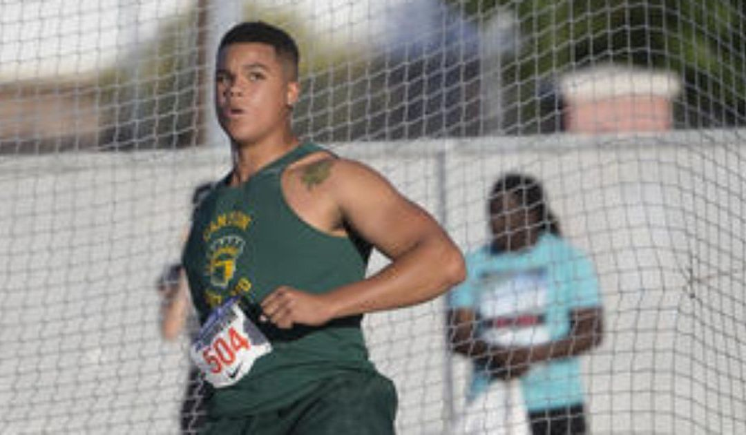 Canyon del Oro's Turner Washington breaks own state discus record at Arcadia