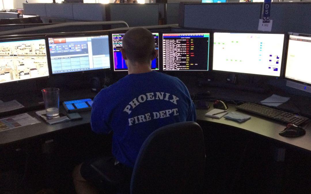 How do Phoenix emergency dispatchers do their job?