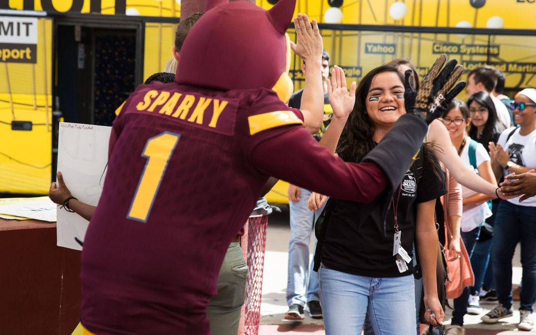 Sparky joins ASU staff to surprise future Sun Devils