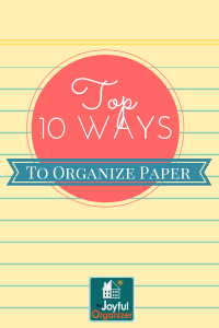 10 Ways to Better Organize Paper
