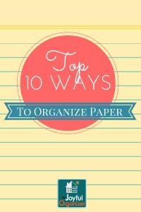 10 Ways to Better Organize Paper