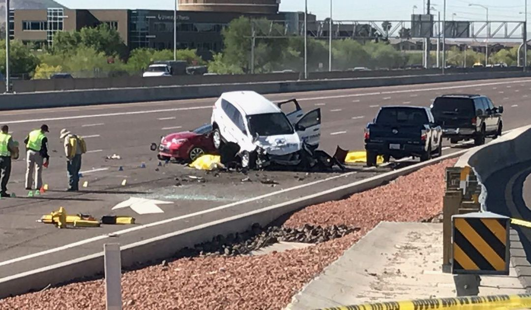 Minivan driver cited for speed in Phoenix crash that killed motorcyclist, woman on I-17