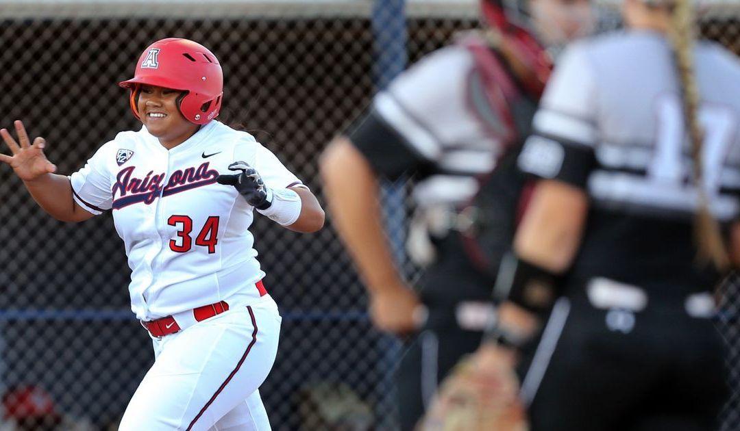 Danielle O'Toole, Katiyana Mauga lead Arizona Wildcats softball to win over South Carolina
