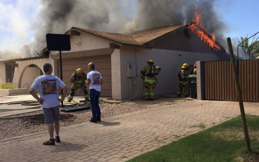 Phoenix family escapes house fire, but their dog perishes