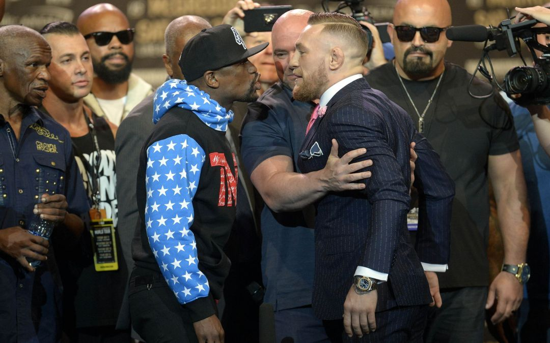 Floyd Mayweather, Conor McGregor at least deliver for press conference