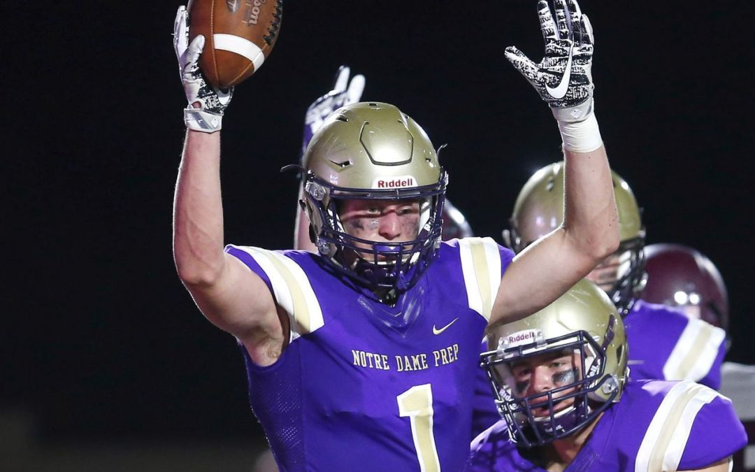 Notre Dame Prep's Jake Smith at 25 offers since September
