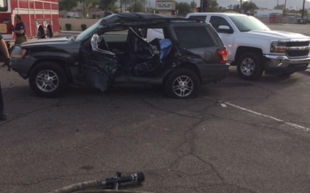 3 children hurt in Phoenix crash involving garbage truck
