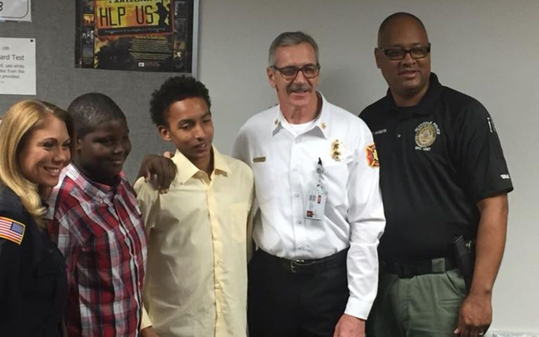 2 Glendale teens who saved woman named heroes by fire, police