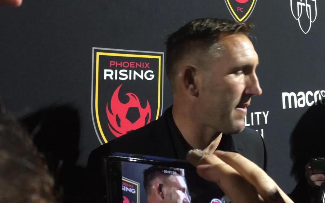 Phoenix Rising coach Rick Schantz after first ever playoff win