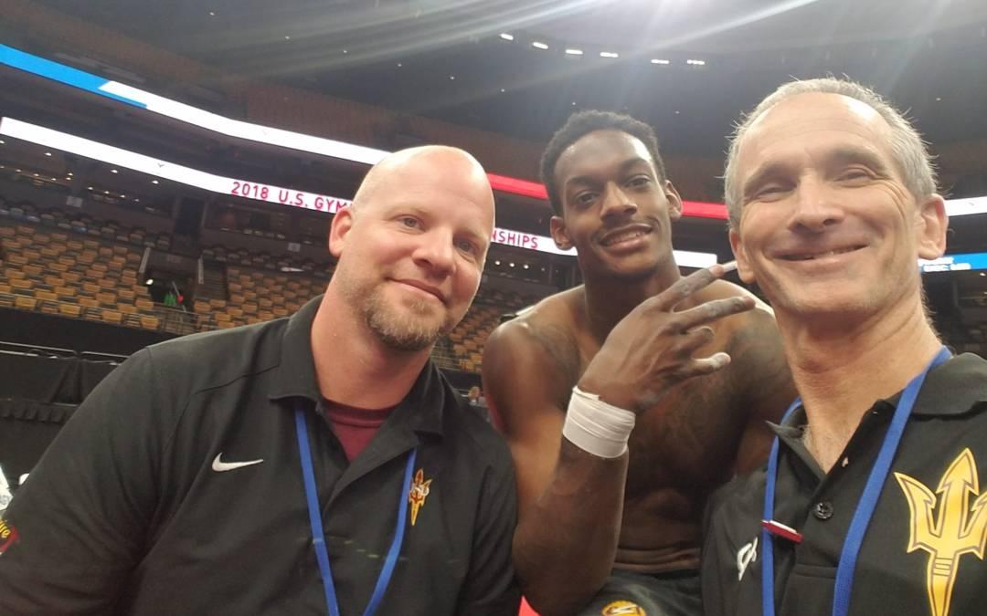 U.S. medalist Kiwan Watts is a survivor like ASU men's gymnastics