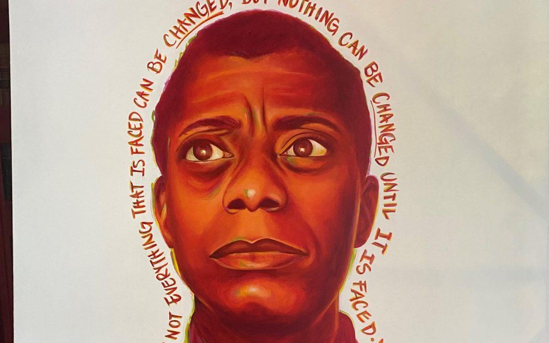Recent protests inspired mural of James Baldwin in downtown Phoenix